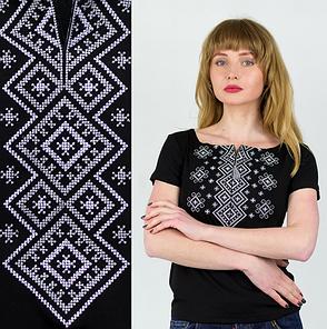 Ромби жіноча футболка вишиванка, фото 2