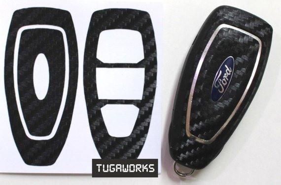 Карбоновый чехол для ключа Ford fiesta,B/C/S-max,Focus,Kuga,Edge,Mondeo, Mustang,F150,fusion,Explorer,Taurus