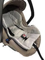 Вкладыш в автокресло для новорожденных из х/б трикотажа