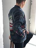 Мужская джинсовка (Джокер), синяя джинсовая куртка, фото 2