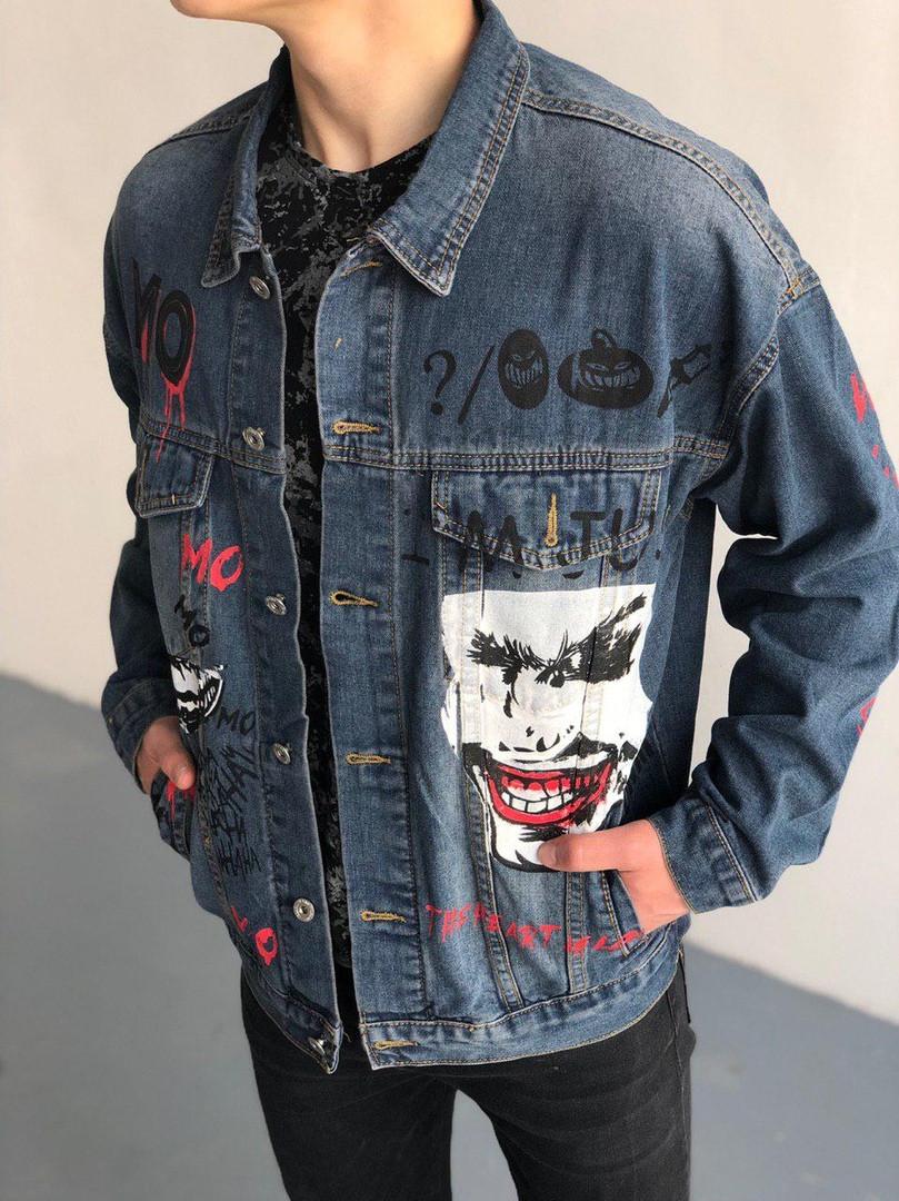 Мужская джинсовка (Джокер), синяя джинсовая куртка