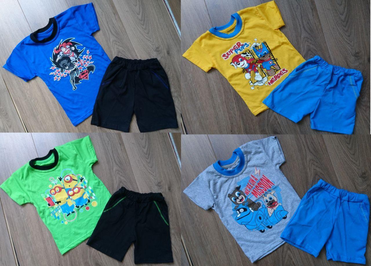 Футболка и шортики на мальчишек