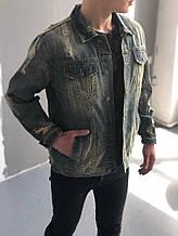 Мужская джинсовка, синяя джинсовая куртка