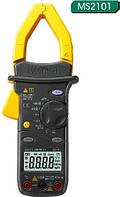 MS2101 Mastech. Токоизмерительные клещи: DCV, ACV, ACA, DCA, скважность, прозвонка, тест диодов, REL