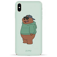 Накладка для iPhone XS Max пластик Pump Tender Touch Case Minty Bear
