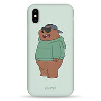 Накладка для iPhone X/iPhone XS пластик Pump Tender Touch Case Minty Bear