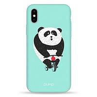 Накладка для iPhone X/iPhone XS пластик Pump Tender Touch Case Panda Bicycle