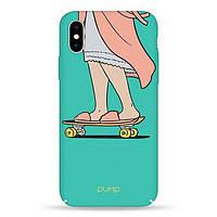 Накладка для iPhone X/iPhone XS пластик Pump Tender Touch Case Skate Tifani