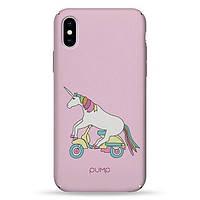 Накладка для iPhone X/iPhone XS пластик Pump Tender Touch Case Unicorn Biker