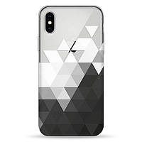 Накладка для iPhone X/iPhone XS силікон Pump Transperency Case Triangle
