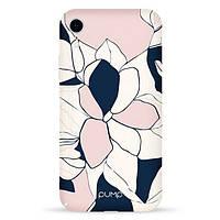 Накладка для iPhone XR пластик Pump Tender Touch Case Art Flowers