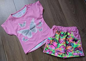 Футболка и юбка-шорты на девочек, фото 3