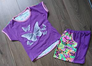 Футболка и юбка-шорты на девочек, фото 2