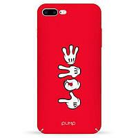 Накладка для iPhone 7 Plus/iPhone 8 Plus пластик Pump Tender Touch Case Hands Mickey Love
