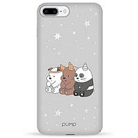 Накладка для iPhone 7 Plus/iPhone 8 Plus пластик Pump Tender Touch Case Three Bears
