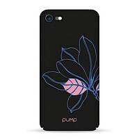 Накладка для iPhone 7/iPhone 8 пластик Pump Tender Touch Case Black Flower