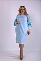 01152-1 | Голубое платье из костюмки