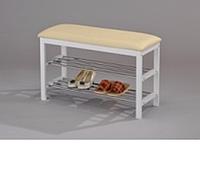 Полка для обуви скамейка (белая)