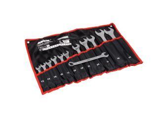 Набор ключей рожково-накидных CRV сатин 17 шт (6-24мм) в брезенте Миол 51-716