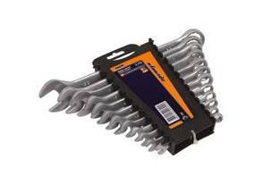Набір ключів рожково-накидних CRV сатин 17 шт (6-24мм) в брезенті Миол 51-716, фото 2