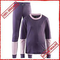 Комплект термобелья детский Craft Baselayer фиолетовый 1905355-750701