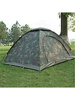 Палатка универсальная 3-х местная SY-011 (р-р 2х2х1,35м, PL, камуфляж Woodland)