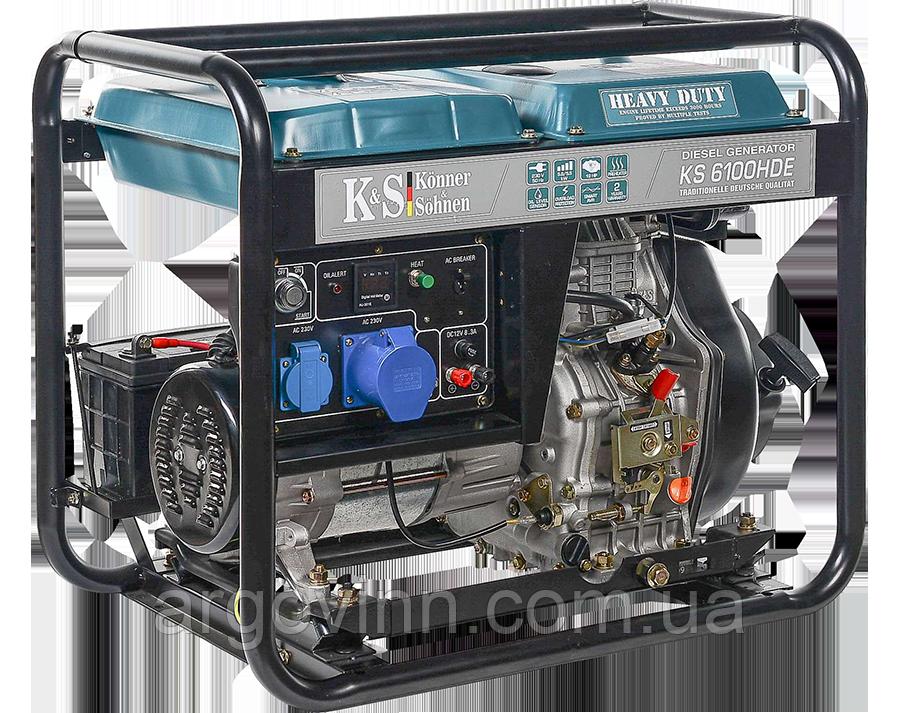 Дизельний генератор KS 6100HDE