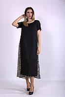 01118-1 | Черное длинное платье из шифона