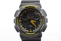 Casio G-Shock ga-100 Black-Уellow
