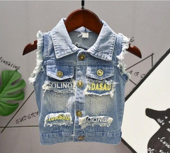 Жилетка джинсовая Симпсон  100,120