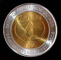 """Монета Папуа - Новой Гвинеи 2 кина 2008 г. """"35-летие Банка Папуа - Новой Гвинеи"""""""