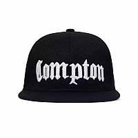 Кепка снепбек Compton с прямым козырьком Черная, Унисекс