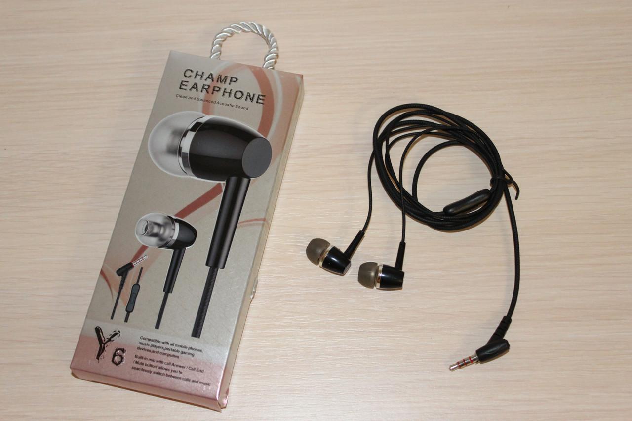 Наушники с микрофоном Champ Y6 Black