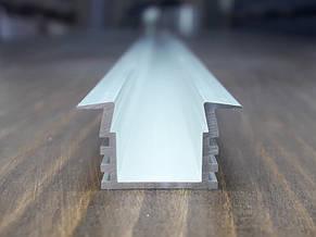 Профиль светодиодный врезной ПАС-2230 анод. L-2метра, фото 2