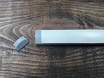 Светодиодный профиль Z306 (ЛП7) анод. Комплект 1мп (профиль+рассеиватель матовый+ заглушка), фото 3