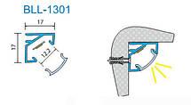 Светодиодный профиль угловой BLL 1301 (ЛПУ17) анод. Длина 2м, фото 3