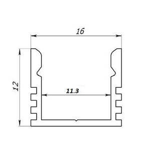 Профиль для led освещения. BLL-1101 анод. L-3метра, фото 3