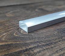 Светодиодный профиль Z306 (ЛП7) анод. Комплект 1мп (профиль+рассеиватель прозрачный+ заглушка), фото 2