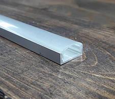 Светодиодный профиль Z306 (ЛП7) анод. Комплект 2мп (профиль+рассеиватель прозрачный+ заглушка), фото 3