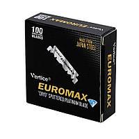 Лезвия для опасных бритв (шаветт) половинками Euromax 100шт