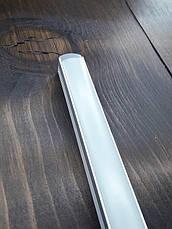 Лэд профиль светодиодный ЛП12, анод. Комплект 1мп (профиль+рассеиватель матовый+ заглушка), фото 2