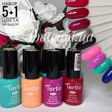 Набор гель-лаков Tertio, 5+1 в подарок