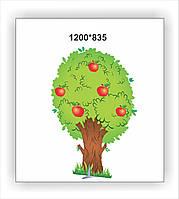 """Декорация для утренника """"Дерево с яблоками"""""""