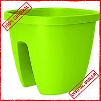 Цветочный горшокEmsa  CITY для перил 30х30 см зеленый EM515017
