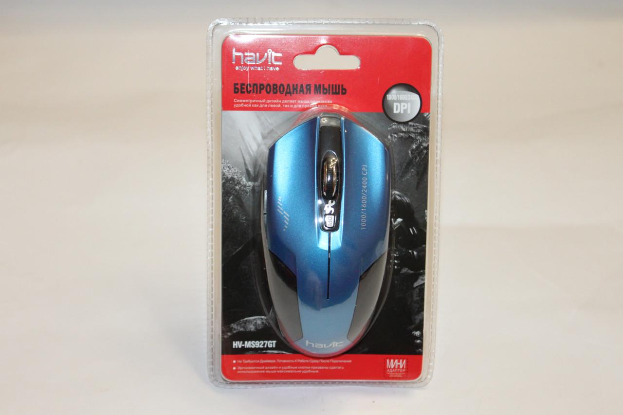 Мишка Havit HV-MS927GT Blue Безпровідна
