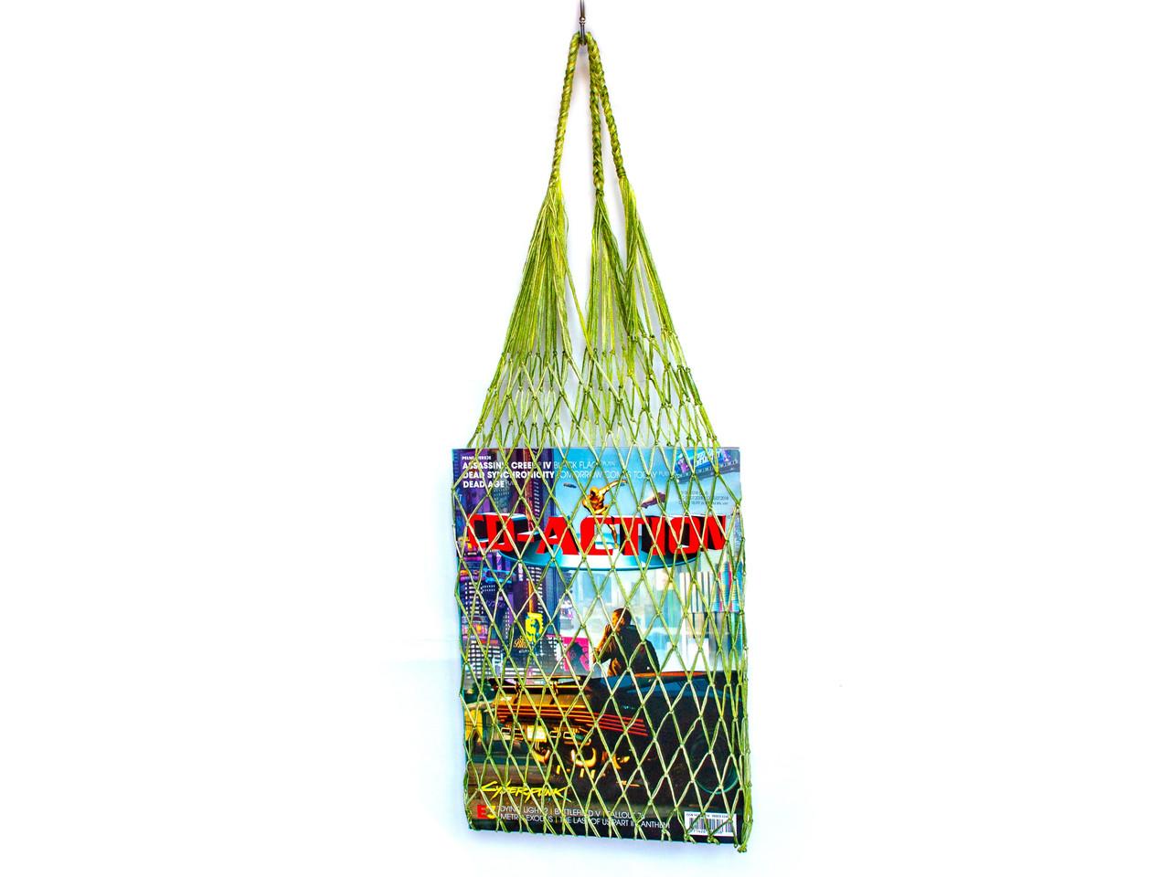 Ежедневная шопер сумка Авоська -  Французская сумка - Молодая зелень