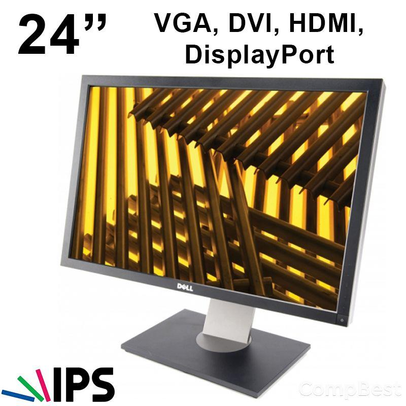 "Монитор Dell U2410 H-IPS / 24"" / 1920x1200 /  VGA, DVI, HDMI, DisplayPort"
