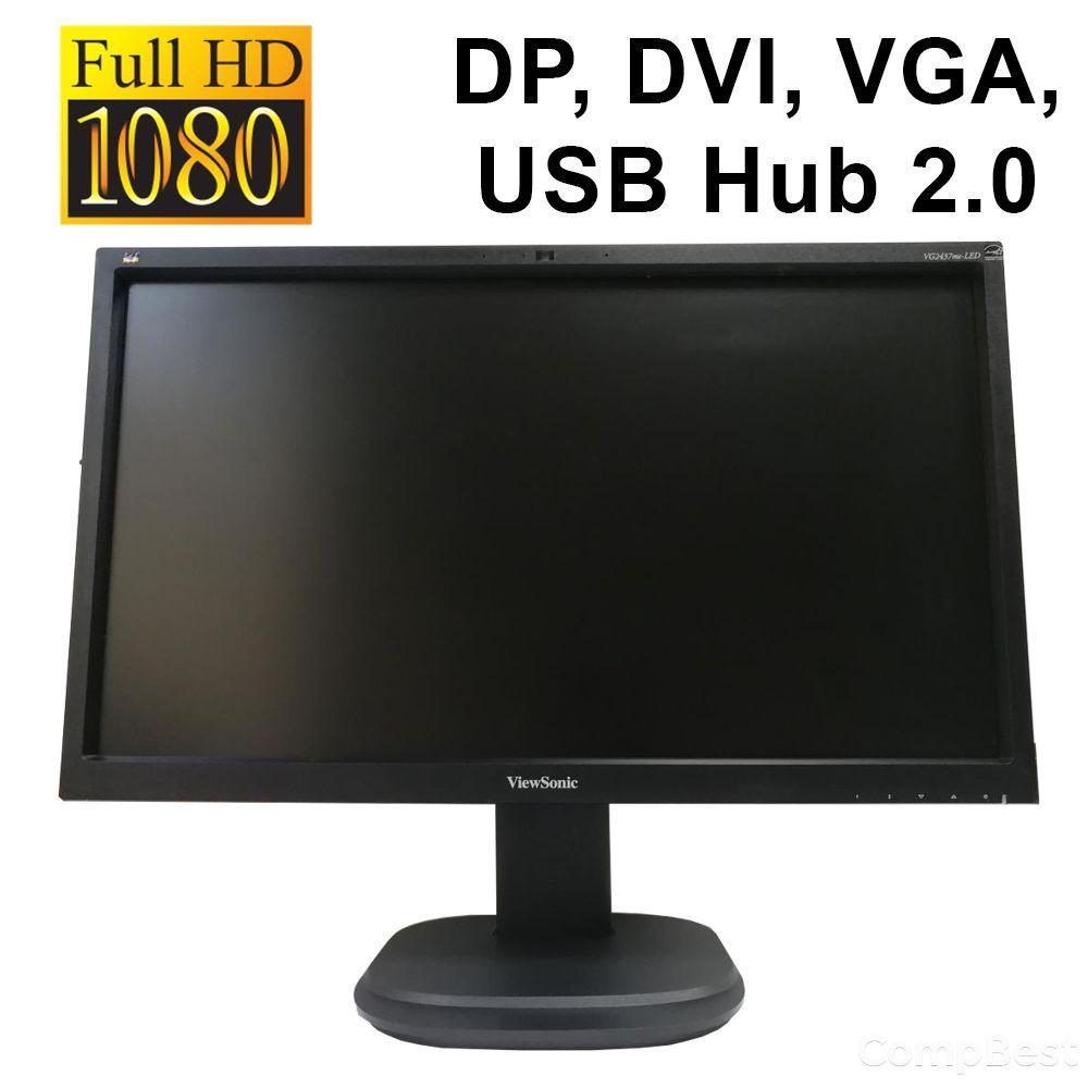 "ViewSonic VG2437mc-LED / 23.6"" / 1920x1080 WLED / DP, DVI, VGA, USB Hub 2.0 / встроенные колонки 2х2Вт"