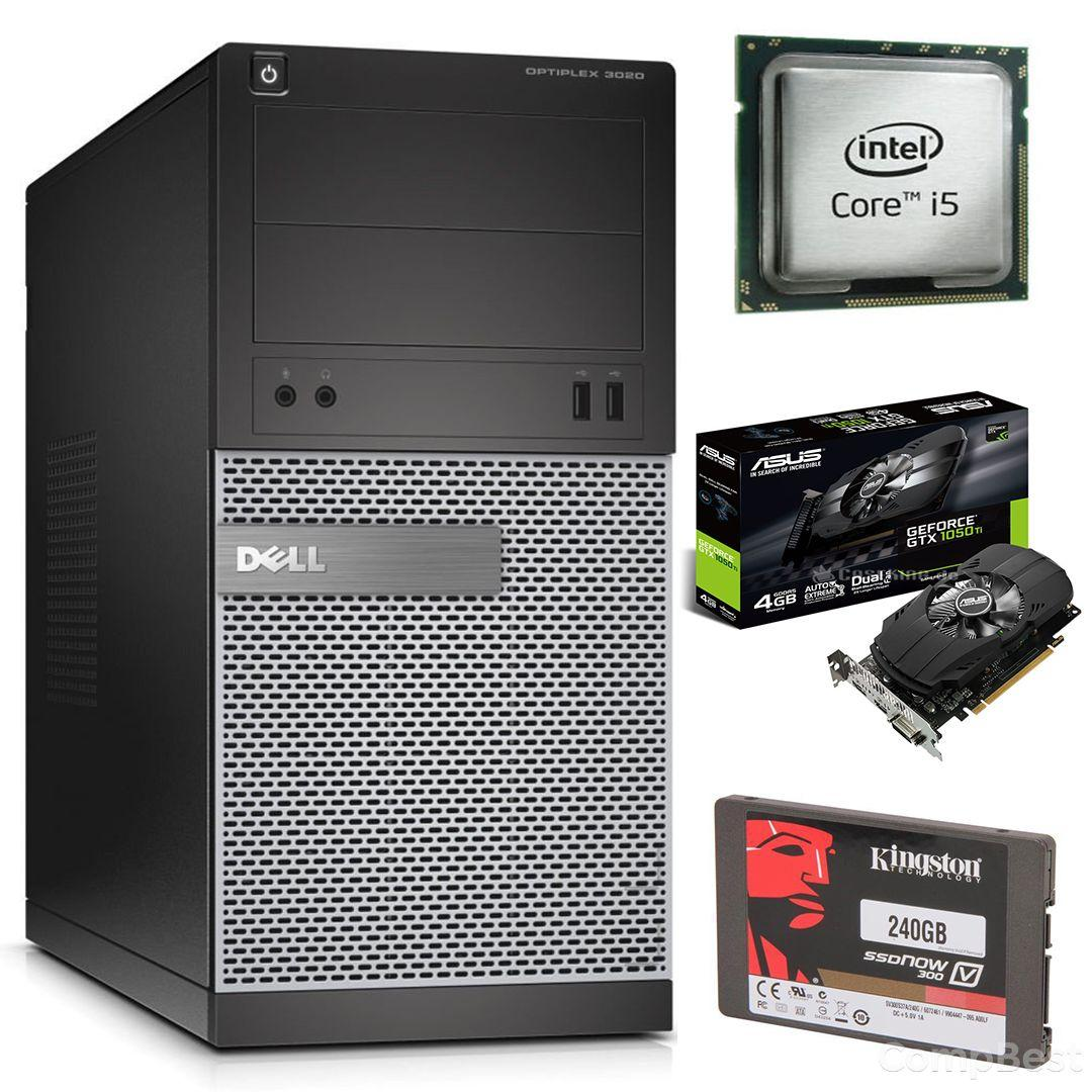 DELL 3020 Tower / Intel Core i5-4570 (4 ядра по 3.2-3.6GHz) / 8 GB DDR3 / 240 GB SSD new / GeForce GTX 1050 TI 4GB GDDR5 (HDMI,DVI,DP)