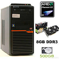 GATEWAY DT55 / AMD Phenom II X3 B75 (3 ядра по 3.0GHz) / 8 GB DDR3 / 500 GB HDD / new! GeForce GTX 1050 Ti 4GB GDDR5 (HDMI, DVI, DP)